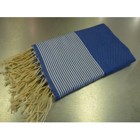 Foutas - Serviettes 100x200 Fouta 100 x 200 cm - bleu roi made by Soap and the City