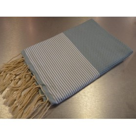 Foutas - Serviettes 100x200 Fouta 100 x 200 cm - bleu ciel made by Soap and the City