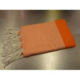 Foutas - Serviettes 100x200 Fouta 100 x 200 cm - orange made by Soap and the City