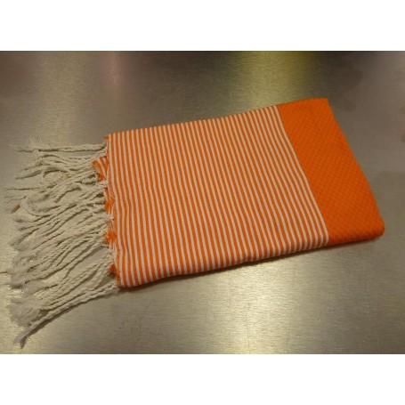 Fouta 100 x 200 cm - Orange La Boutique a Paris