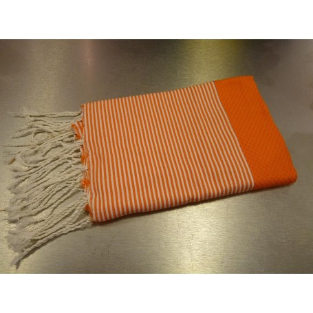 Foutas - Serviettes 100x200 Fouta 100 x 200 cm - Orange de Soap and the City