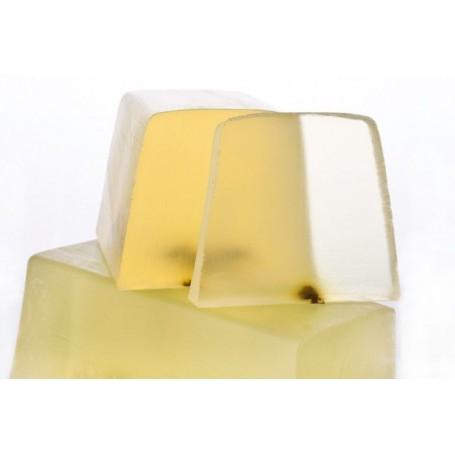 Handgesneden zepen Lemon Verbena, cut soap translucent made by Autour du Bain
