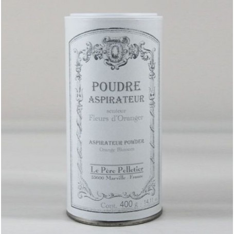 Poudre aspirateur Fleur d'Oranger from Le Père Pelletier in Paris @ Soap and the City, soaps, candles, incens, perfumes and t...