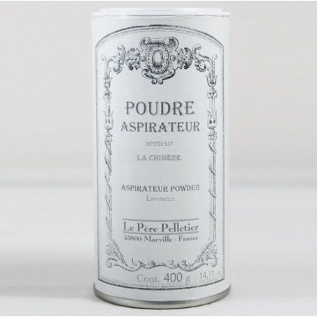 Poudre aspirateur La Chimère Le Père Pelletier à Paris chez Soap and the City, savons, bougies, parfums, encens et peluches
