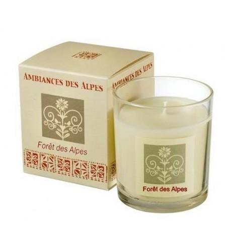 Bougie parfumée 40h, Fôret des Alpes