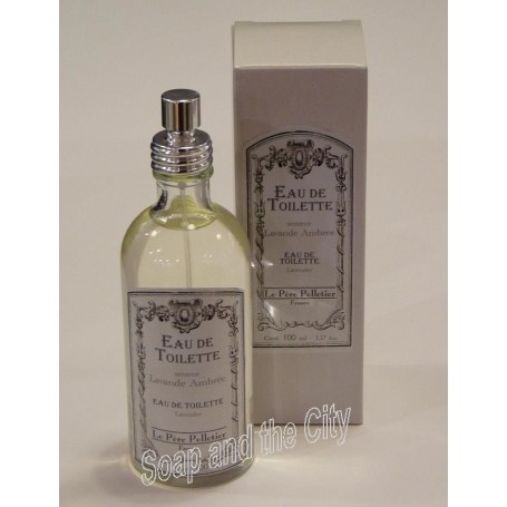 Eau de toilette, Lavande Ambrée Le Père Pelletier à Paris chez Soap and the City, savons, bougies, parfums, encens et peluches