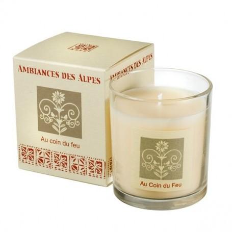 Au Coin du Feu, Bougie parfumée 40h Ambiance des Alpes à Paris chez Soap and the City, savons, bougies, parfums, encens et pe...