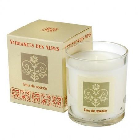 Eau de source, Bougie parfumée 40h Ambiance des Alpes à Paris chez Soap and the City, savons, bougies, parfums, encens et pel...