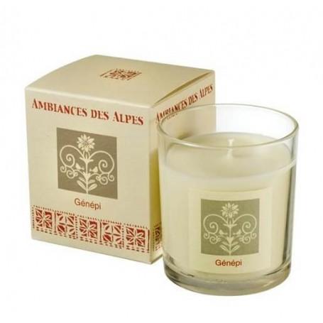 Génépi, Bougie parfumée 40h Ambiance des Alpes à Paris chez Soap and the City, savons, bougies, parfums, encens et peluches
