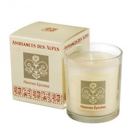 Résines épicées, Bougie parfumée 40h Ambiance des Alpes à Paris chez Soap and the City, savons, bougies, parfums, encens et p...