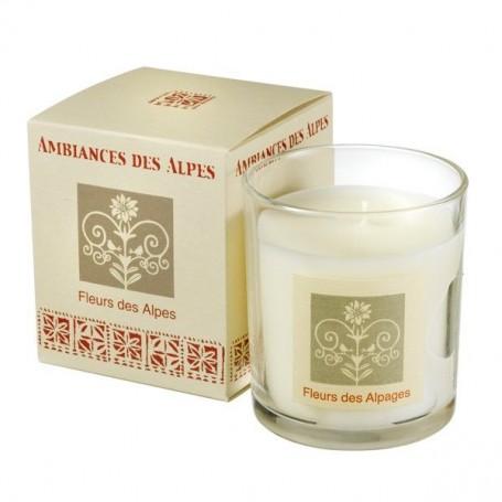 Fleurs des Alpes, Bougie parfumée 40h Ambiance des Alpes à Paris chez Soap and the City, savons, bougies, parfums, encens et ...