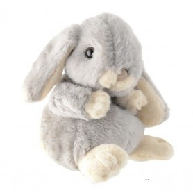 Peluches et doudous Peluche lapin, Kanini gris / bleu pâle de Bukowski