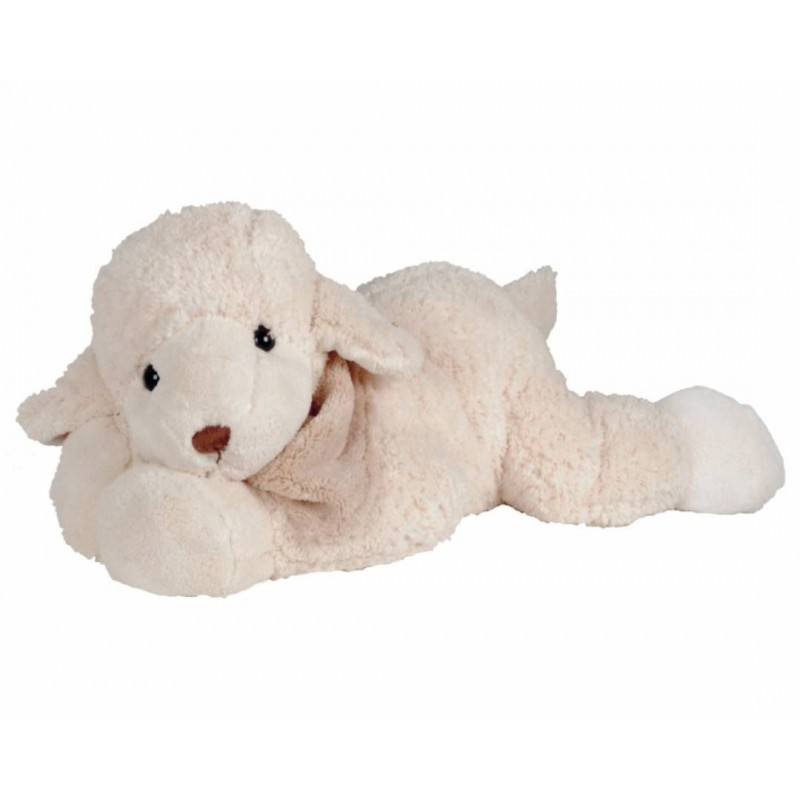 Peluche agneau, The big Lefty blanc