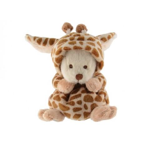 Peluche ours déguisé en giraffe Bukowski à Paris chez Soap and the City, savons, bougies, parfums, encens et peluches