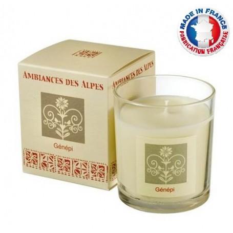Bougies parfumées Bougie parfumée 40h, Génépi de Ambiance des Alpes