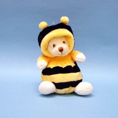 Peluche ours déguisé en abeille