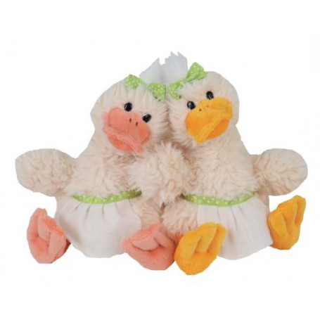 Peluches et doudous Peluches 2 canards, Happy Quack Sisters made by Bukowski