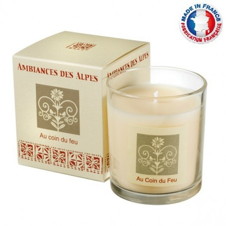 Bougies parfumées Bougie parfumée 40h, Au Coin du Feu de Ambiance des Alpes