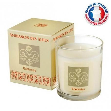 Bougies parfumées Bougie parfumée 40h, Edelweiss de Ambiance des Alpes