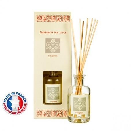 Bouquet parfumé, Fougères Ambiance des Alpes à Paris chez Soap and the City, savons, bougies, parfums, encens et peluches