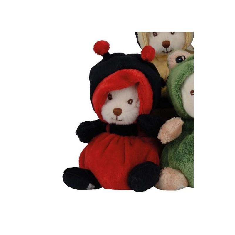 Peluche ours déguisé en coccinelle
