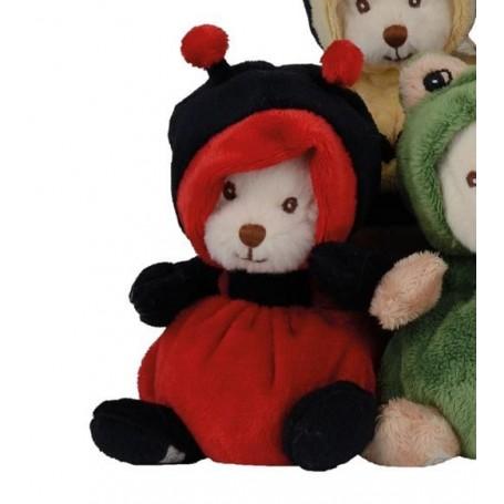 Peluches et doudous Peluche ours déguisé en coccinelle made by Bukowski