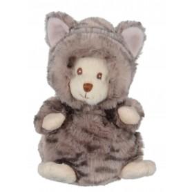 Peluches et doudous Peluche ours déguisé en chat gris de Bukowski