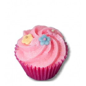 Cupcakes and bath melters Cassis Capucine, mini bath muffin made by Autour du Bain