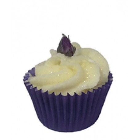 Cupcakes and bath melters Rose Vintage, mini bath muffin made by Autour du Bain