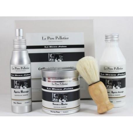 Coffret rasage, Ambre - Le Beau Jules from Le Père Pelletier in Paris @ Soap and the City, soaps, candles, incens, perfumes a...
