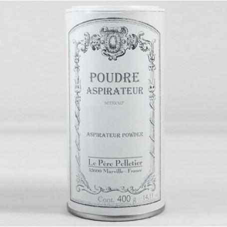 Poudre aspirateur Héliotrope Le Père Pelletier à Paris chez Soap and the City, savons, bougies, parfums, encens et peluches