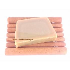 Handcut soaps Tranche de savon surgras, Lait de coco made by Savonissime
