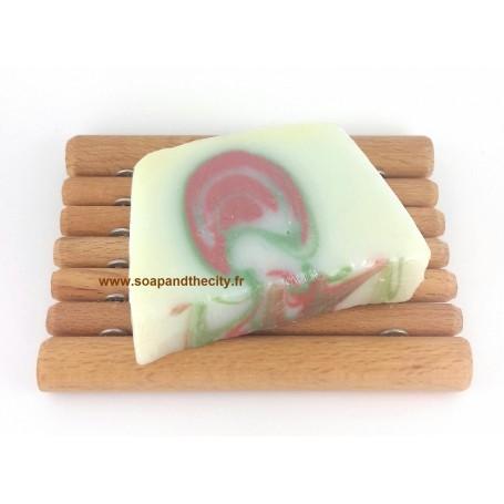 Savon à la coupe Tranche savon à froid surgras, Pin-Mandarine de Savonissime