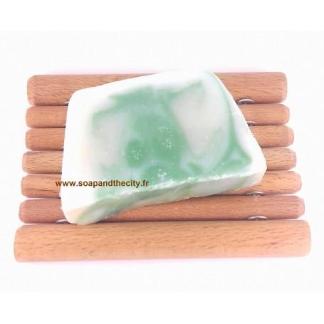 Tranche de savon surgras, Eucalyptus-Limette from Savonissime in Paris