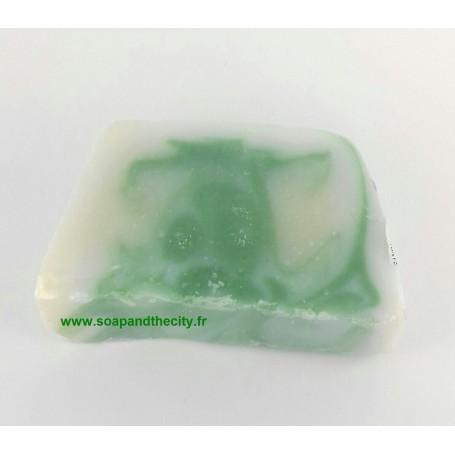 Savon à la coupe Tranche savon à froid surgras, Eucalyptus-Limette de Savonissime