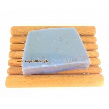 Tranche savon à froid surgras, Lavande Fine Savonissime à Paris chez Soap and the City, savons, bougies, parfums, encens et p...