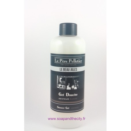 Gel douche, Ambre - Le Beau Jules Le Père Pelletier à Paris chez Soap and the City, savons, bougies, parfums, encens et peluches