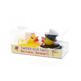 """Kids stuff Deux canards lumineux \\""""Be mine forever\\""""  made by De Laurier"""