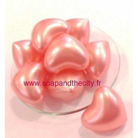 Boules et perles de bain Bille de bain parfum Rose, en Coeur de Bomb Cosmetics