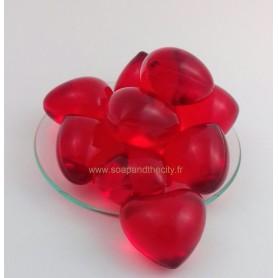 Boules et perles de bain Bille de bain parfum Fraise, en Coeur de Bomb Cosmetics