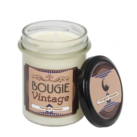 Mangue Papaye, Bougie parfumée 30h Odysee des sens à Paris chez Soap and the City, savons, bougies, parfums, encens et peluches