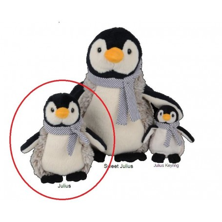 Peluches et doudous Peluche Julius Pinguin de Bukowski