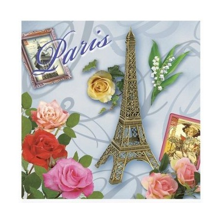 Sachet parfumé Rose - Tour Eiffel fleurie Le Blanc à Paris chez Soap and the City, savons, bougies, parfums, encens et peluches