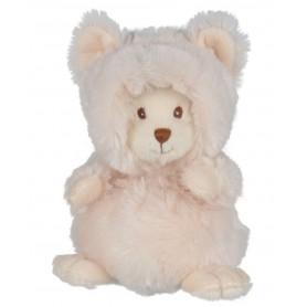 Peluches et doudous Peluche ours déguisé en chat blanc de Bukowski