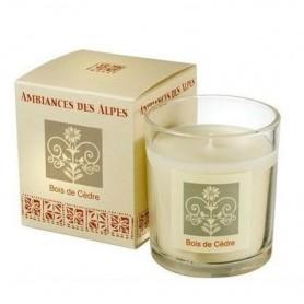 Bougies parfumées Bougie parfumée 40h, Bois de cèdre de Ambiance des Alpes