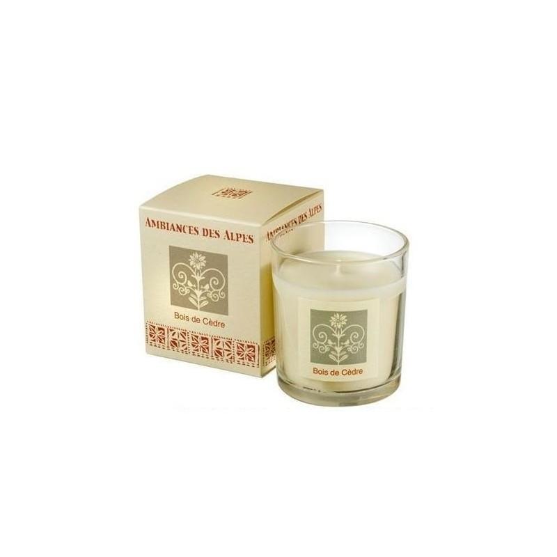 Bougie parfumée 40h, Bois de cèdre