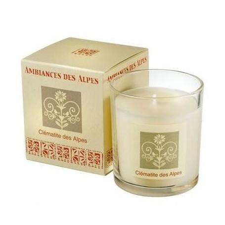 Clématite des Alpes, Bougie parfumée 40h Ambiance des Alpes à Paris chez Soap and the City, savons, bougies, parfums, encens ...