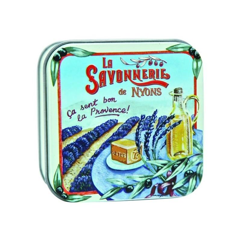 savon en boîte métal, Champ de Lavande