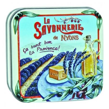 savon en boîte métal, Champ de Lavande La Savonnerie de Nyons a Paris