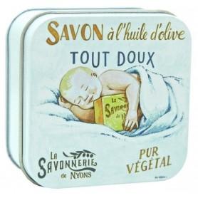 Savon divers savon en boîte métal, Bébé douceur de La Savonnerie de Nyons